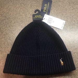🆕Polo Ralph Lauren Signature Cuff Hat Hunter Navy